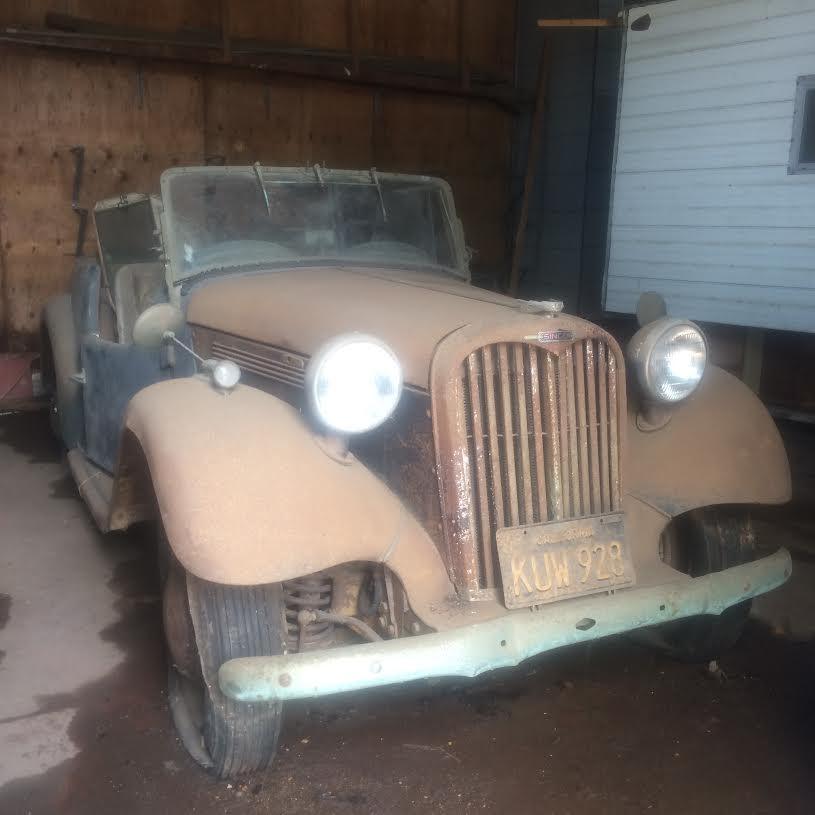 Singer Roadster barn find